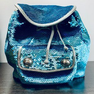 Coach Blue Sequin Poppy Collection Backpack
